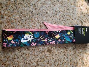 Nike Dry Youth Printed Head Tie Reversible Black/Pink Gaze/White OSFM