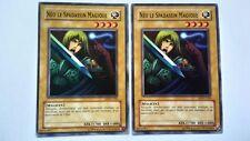 Lot 2 Cartes Yu Gi Oh Néo Le Spadassin Magique DDY-C035