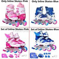 Kids Inline Roller Skates Adjustable for Boys Girls w/Lights Up Blades Wheels US