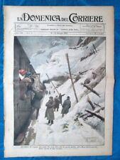 La Domenica del Corriere 18 gennaio 1920 Valanga Sempione - Tolosa - Bucarest