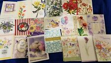 20 Floral Assorted All Occasion Greeting Cards Over Half are Birthday Lot B