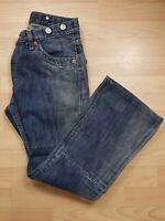 Levi's Original Men's Dark Blue Denim Boot Cut Jeans 30W 27L Short Red Tab