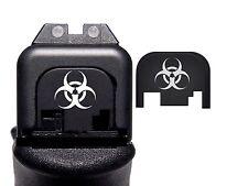 Punisher Slide Cover Rear Back Biohazard For Glock Gen 1 2 3 4 ALL Model 17 19