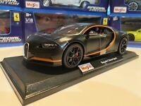 New Bugatti Chiron 1:18 scale Maisto Special Edition Black w/black Wheels