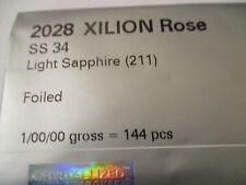72 Swarovski Hotfix Lt Sapphire Flat back 34 ss  Foiled #2028