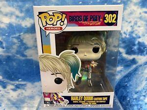 HARLEY QUINN  Birds of Prey Caution Tape Vinyl FUNKO POP Figure #302
