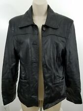 Black Leather Motorcycle Jacket Size M 1669