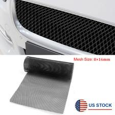 Black Aluminum Mesh Grill Cover Car Bumper Fender Hood Vent Grille Net 40 X 13 Fits 2004 Honda Civic