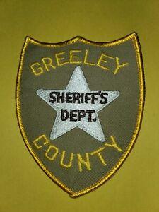 Greeley County Ks Sheriff's Dept Patch