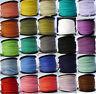 27 Colours 10/50 meters Plano Imitación Ante Cordón De Cuero 3mm×1.5mm