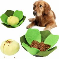 Cabbage Dog Nosework Sniffing Toy Pet Stress Release IQ Training Slow Eat Bowl