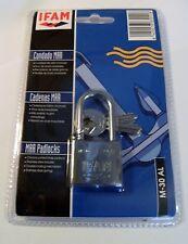 Candado de Marina 30 mm Largo Grillete IFAM marca niebla salina probado 2 Teclas Almeja Pack