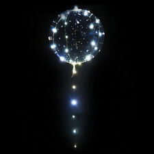LED Balloon Light Up With Trailing Chain 45cm Bright - Wedding, Party