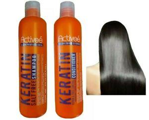 ACTIVEE KERATIN SALT FREE SHAMPOO + CONDITIONER INTENSIVE HAIR CARE REPAIR