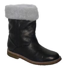 Vintage Fur Lined Leather Ankle Boots Dark Brown UK 8 EU 41 NEW SP £120