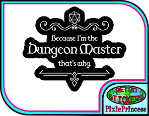 D&D Dungeon and Dragons DM D20 I Vinyl Sticker Room RPG Wall Poster Window Decal