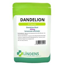 Lindens Dandelion 250mg Whole Root Herbal Capsules DOUBLE PACK x 120 Natural
