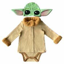 Disney Authentic Star Wars The Child Baby Yoda Costume Bodysuit 0 3 6 9 12 18 24