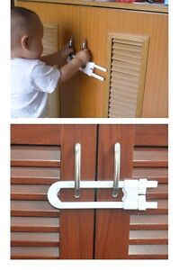 Child , Baby Safety Lock ,Cabinet Cupboard Drawer Door U Shaped Lock