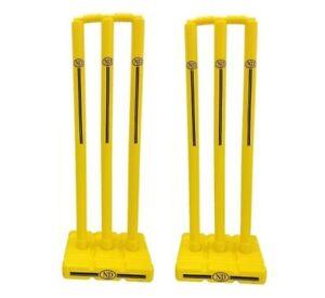 Kwik Cricket Stump Set Plastic Wicket Stumps With Base Outdoor Indoor Garden x2
