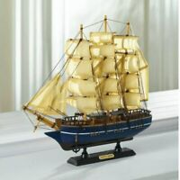 Nautical Navy Blue Ship Model Cutty Sark Wood Sailor Boat Office Desk Home Decor