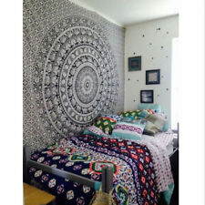 Boho Bedding Mandala Indian Tapestry Black Elephant Wallhanging Twin Size decor