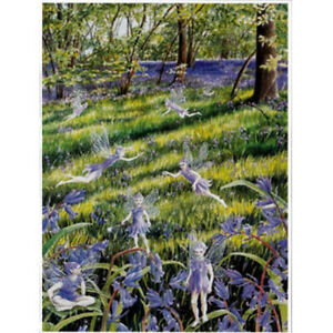 PAGAN WICCAN GREETING CARD Bluebell Fairies GODDESS CELTIC Blank WENDY ANDREW