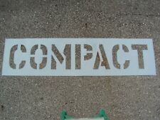 "12"" Compact Car Parking Lot Stencil 1/16"", (.063"") Ldpe Big Edges Easy to Read"