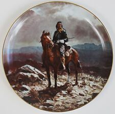 Indian Scout Collectible Plate NEW Olaf Wieghorst Western Horse Army Rifle NIB