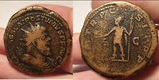 Römische Münze Kaiser Postumus Doppelsesterz Sehr schwer