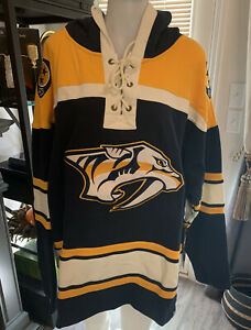 NHL Hoody Nashville Predators  Hooded Pullover 47 Lacer Jersey Sweater Small