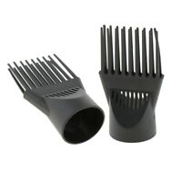 2pcs Salon Hair Dryer Diffuser Wind Blow Cover Comb Nozzle Attachment Black