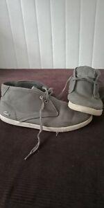 LaCoste men's Grey Boots Size Us9