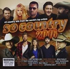 SO COUNTRY 2016 2CD NEW Alan Jackson Lady Antebellum Jason Aldean Adam Harvey