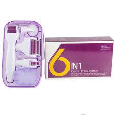 Pro 6 in 1 derma roller Skin Therapy Micro Needles Titanium Microneedle Scar Kit