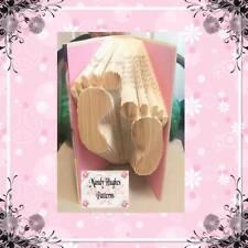 Baby Feet Folded Book Art Folding PATTERN ONLY #1008