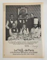 Le Titi de Paris French Restaurant Print Ad Rand Road Palatine Illinois IL 1979