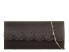 BLACK SATIN CHRISTMAS PROMS WEDDING LADIES NIGHT OUT OCCASIONAL CLUTCH BAG