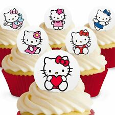 Cakeshop 12 x PRE-CUT Hello Kitty Edible Cake Toppers