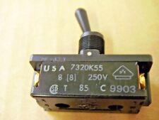 Cutler Hammer 7320K55 Black All Plastic 2PST Toggle Switch 8 Amp @ 250V AC/DC