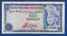 Satu Ringgit, 1 $, One Dolars, Malaysia banknotes, Bank Negara Malaysia, RARRE !