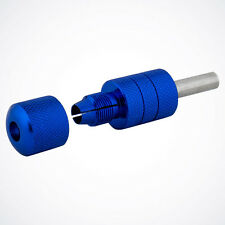 "NEW 1"" Blue EZ Auto Self-Lock Aluminum Tattoo Grip w/ Tube for Machine Gun Kit"