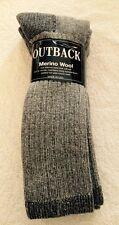 2 Pairs Men's Outback Merino Wool Thermal Socks Sz 10-13 ~ Great Buy ~ Nice Gift