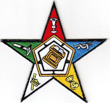 EASTERN STAR - MASONIC - FREE MASON - SYMBOL - EMBLEM/Iron On Embroidered Patch