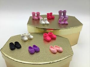 Barbie Little Sister Kelly Chelsea Doll Lot Of 10 Shoes Sneakers Boots Dress