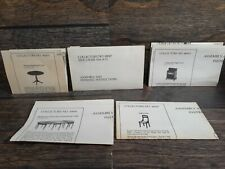 The House of Miniatures Dollhouse Furniture DIRECTIONS ONLY Table Chair Stand