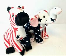 Ty Beanie Babies Righty & Lefty Political Parties with Tags Donkey and Elephant