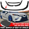 Carbon Fiber Look Front Bumper Lips Spoiler For Toyota Camry 2018-2019 SE XSE