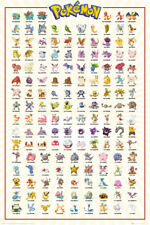 Pokemon Kanto 151 Gaming Anime Maxi Poster Print 61x91.5cm | 24x36 inches