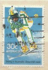 downhill racer 30c - 1984 Australia stamp - Skiing   Sports   Winter